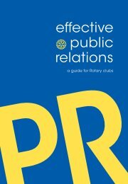 Effective Public Relations: A Guide - Rotary International