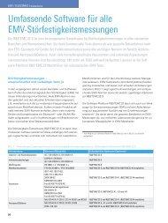 Umfassende Software für alle EMV ... - Rohde & Schwarz