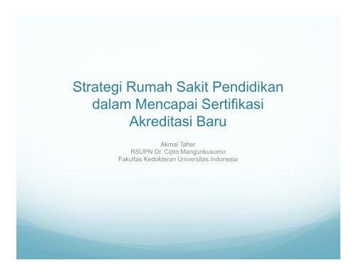 Strategi Rumah Sakit Pendidikan dalam Mencapai Sertifikasi ...