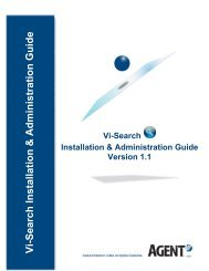 Vi-Search Installation & Configuration Guide - Agent Vi