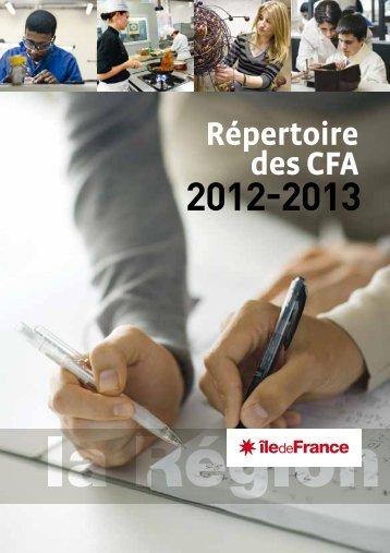 répertoire des CFA - Ile-de-France