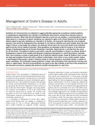 management of Crohn's disease in adults - American College of ...