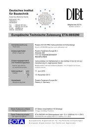 Europäische Technische Zulassung ETA-08/0290