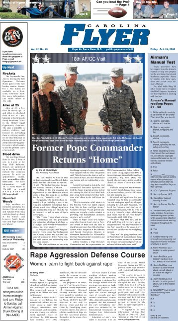 """Former Pope Commander Returns """"Home"""" - Pope Field - Home"""