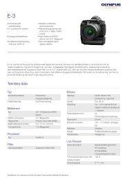 E-3, Olympus, Digital SLR