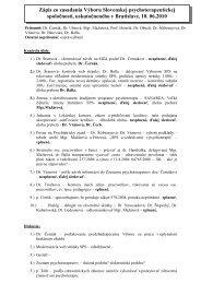 2010/ Jún [pdf] - Slovenská psychoterapeutická spoločnosť