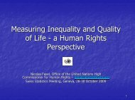 Measuring Inequality and Quality of Life - a ... - Statoo Consulting