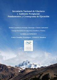 Inventario Nacional de Glaciares y Ambiente Periglacial: Estrategias ...