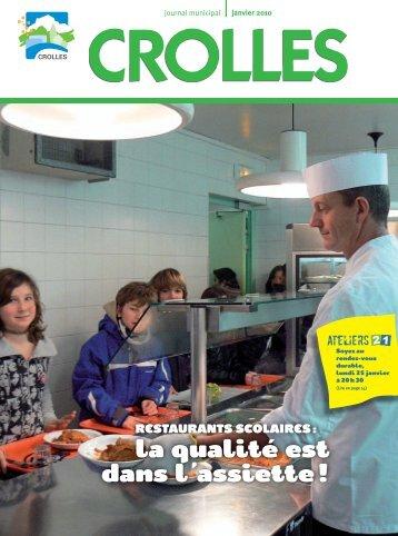 Restaurants scolaires : la qualité est dans l'assiette - ville de Crolles