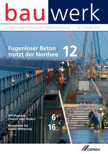 Nr. 1 / Oktober 2006 - Cemex Deutschland AG