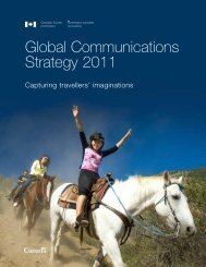 Global Communications Strategy 2011 - Canadian Tourism ...