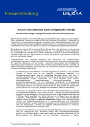 Neue Investmentchancen durch demografischen Wandel