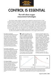 Control Is Essential. The truth about oxygen measurement ... - Hach