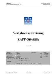 Verfahrensanweisung ZAPP-Störfälle - DAKOSY ...