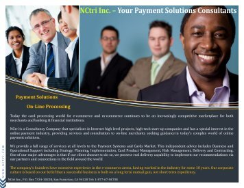 NCtri Inc. – Your Payment Solutions Consultants