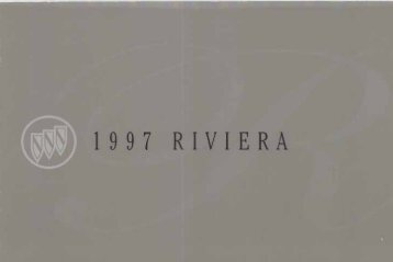 1997 Buick Riviera Owner's Manual