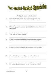 Quadrate und Rechtecke Test