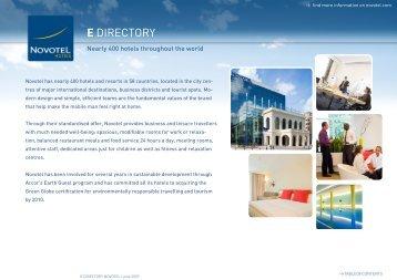 E DIRECTORY E DIRECTORY - Novotel