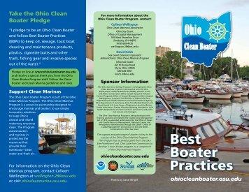 Clean Boater Brochure - Ohio Sea Grant
