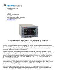 Universal Avionics' Radio Control Unit Approved for Helicopters