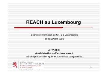 Présentation 2 (REACH au Luxembourg) - Helpdesk REACH & CLP