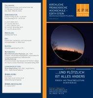 Weitere Informationen zum Trauerseminar als pdf - Lavia - Institut für ...
