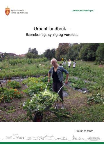 Rapport Urbant landbruk 200314