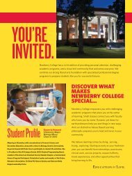 Student Profile Keyerria Howard - Newberry College