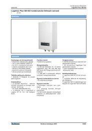 Logamax Plus GB 022 kondenzációs falikazán sorozat