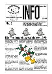 Nr. 3 Die Weihnachtsgeschichte 1999 - Vereinigung Luftfahrt eV