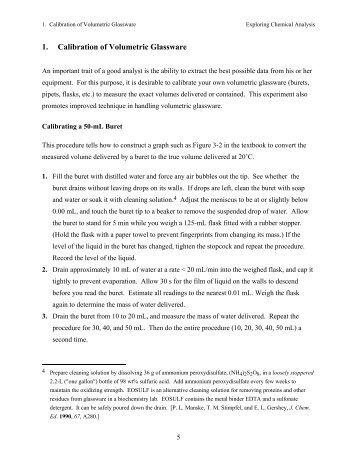 calibration of volumetric glassware essay