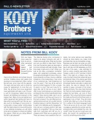 Final Fall E newsletter for Kooy Brothers