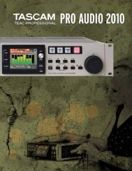 Tascam Pro Audio 2010 - Teacmexico.net