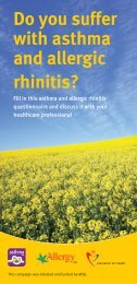 Do you suffer with asthma and allergic rhinitis? - Imutest.com