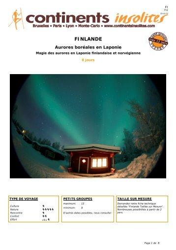 FINLANDE - Continents Insolites