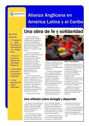 Una obra de fe y solidaridad Alianza Anglicana en América Latina y ...