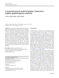 A neuronal network model of primary visual cortex explains spatial ...