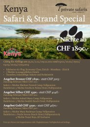 Safari & Strand Special - travelXperts