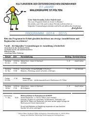 Jahresprogramm 2012-2013 - Kulturverein der Österreichischen ...