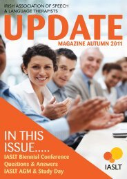Update MaGaZINe aUtUMN 2011 - Irish Association of Speech ...