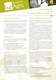 Protection des plantes et environnement - Montpellier SupAgro