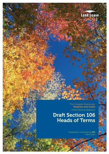 Draft Section 106 Heads of Terms - Southwark Council Planning ...