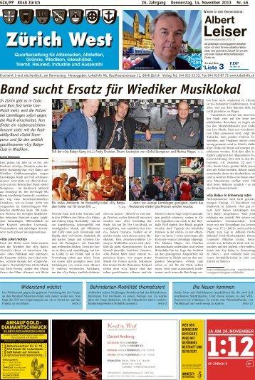 Band sucht Ersatz für Wiediker Musiklokal - Lokalinfo AG