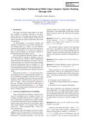 Assessing Higher Mathematical Skills Using Computer Algebra ...