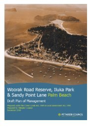 Draft Plan of Management for Woorak Reserve - Pittwater Council ...