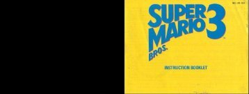 Super Mario Bros 3 Manual - Gamesb00k