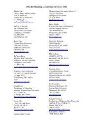 2006 Planning Committee Membership Listing - MSLBD