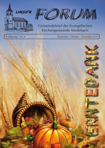 November 2012 - Evangelischen Kirchengemeinde Medebach