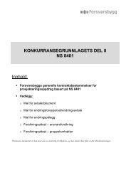 Kontraktsbestemmelser basert på NS 8401 - Forsvarsbygg