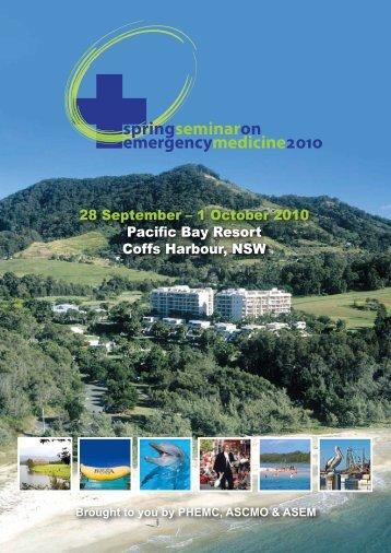 28 September – 1 October 2010 Pacific Bay Resort Coffs ... - phemc